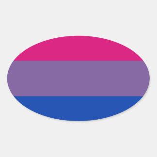 Bisexual LGBT Pride Rainbow Flag Oval Sticker