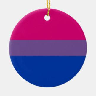 Bisexual LGBT Pride Rainbow Flag Round Ceramic Ornament