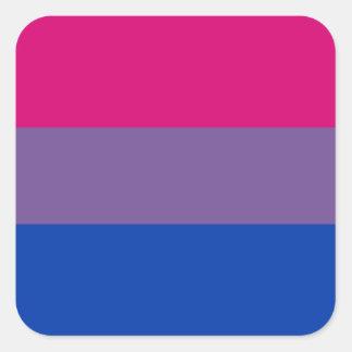 Bisexual LGBT Pride Rainbow Flag Square Sticker