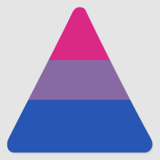 Bisexual LGBT Pride Rainbow Flag Triangle Sticker