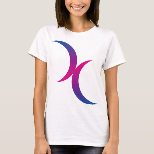 Bisexual moon symbol T-Shirt