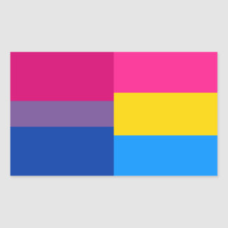 Bisexual/pansexual flag stickers