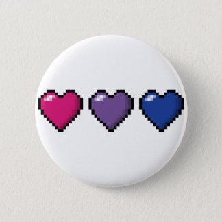 Bisexual Pixel Hearts 2 Inch Round Button