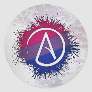 Bisexual Pride Atheist Classic Round Sticker