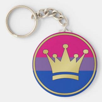 Bisexual Pride Crown Keychain