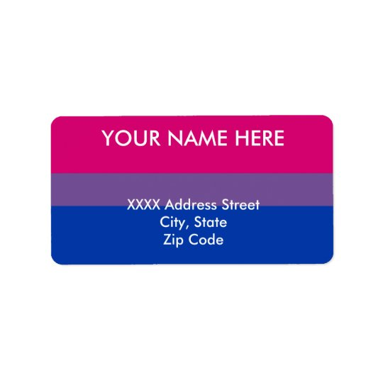 Bisexual Pride Flag Label