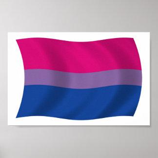 Bisexual Pride Flag Poster Print