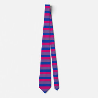 Bisexual pride tie - wide stripes
