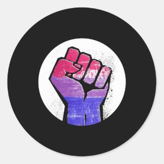 BISEXUAL RESISTANCE - -  ROUND STICKER
