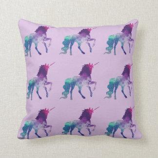 Bisexual unicorn throw pillow