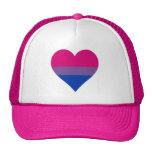 Bisexuality pride heart Trucker Hat