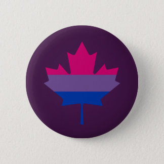 Bisexuality pride maple leaf Button
