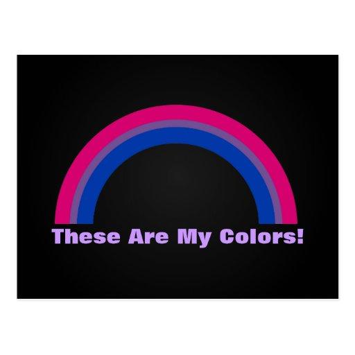 Bisexuality rainbow pride Postcard Postcards