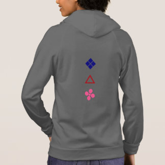 Bishi, Sankaku, Sakura in Bright Colors Hoodie