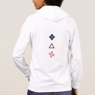 Bishi, Sankaku, Sakura in Muted Colors Hoodie