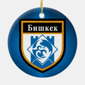 Bishkek  Flag Ceramic Ornament