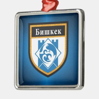 Bishkek  Flag Metal Ornament