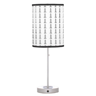 BISHOP CHESS PIECE BAR CODE Bishops Barcode Desk Lamp