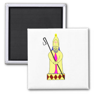 bishop chess piece square magnet