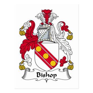Bishop Family Crest Postcard
