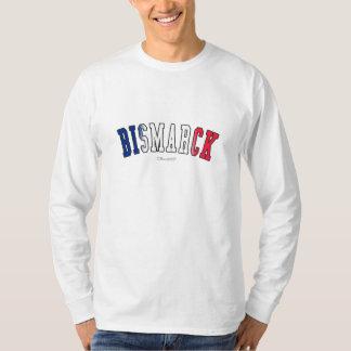Bismarck in North Dakota state flag colors T-Shirt