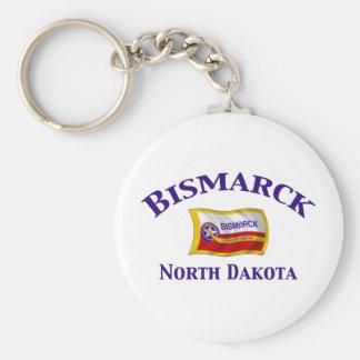 Bismarck, ND Basic Round Button Keychain
