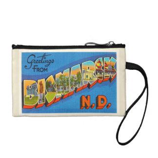 Bismarck North Dakota ND Vintage Travel Souvenir Change Purses