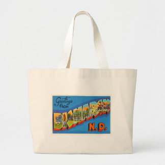 Bismarck North Dakota ND Vintage Travel Souvenir Large Tote Bag