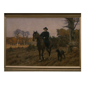 Bismarck on Horseback with Dog Postcard
