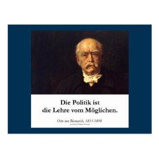 Bismarck, Politik ist die Lehre vom Möglichen Postcard