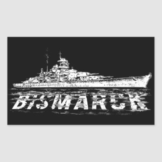Bismarck Rectangle Stickers
