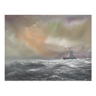 Bismarck signals Prinz Eugen 0959hrs 24th May Postcard
