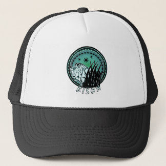Bison - American Buffalo Aqua Blue Trucker Hat