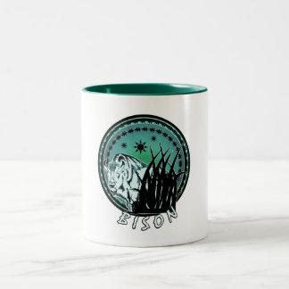 Bison - American Buffalo Aqua Blue Two-Tone Coffee Mug