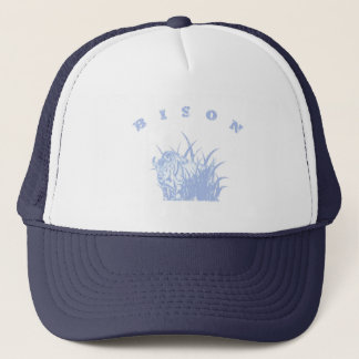 BISON - American Buffalo Lite Blue Graphic Trucker Hat