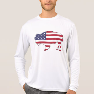Bison - American Flag T-Shirt