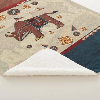Bison Americana Sherpa Blanket