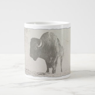 bison animal retro pop art large coffee mug