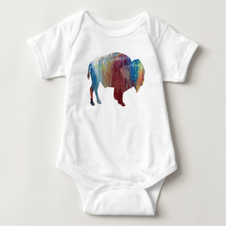 Bison art baby bodysuit