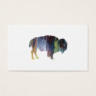 Bison art business card