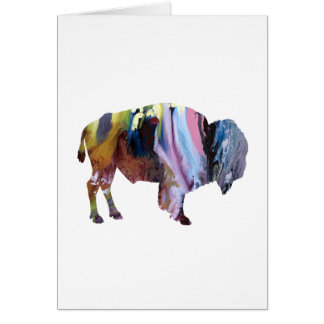 Bison art card
