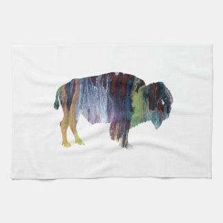 Bison art kitchen towel