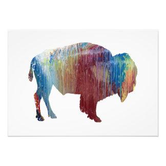 Bison art photo print