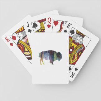 Bison art playing cards
