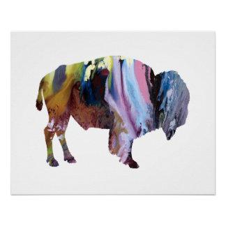 Bison art poster