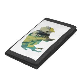 Bison art trifold wallets