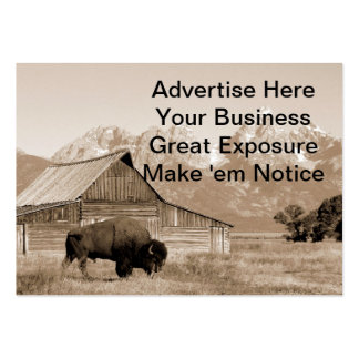 Bison/Barn Sepia Pack Of Chubby Business Cards