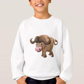Bison Buffalo Animal Cartoon Character Sweatshirt