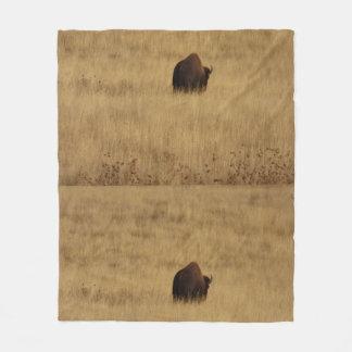 Bison Buffalo Fleece Blanket