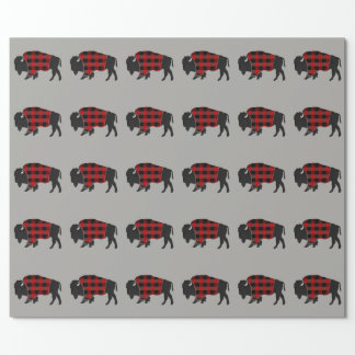 Bison Buffalo Plaid Wrapping Paper